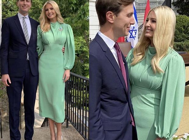 Фото №3 - Самый красивый зеленый: Иванка Трамп в обворожительном платье цвета мятной зелени