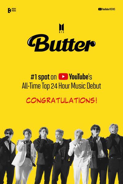 Фото №1 - BTS установили новый рекорд на YouTube— за все время существования платформы такого еще не было 🤯