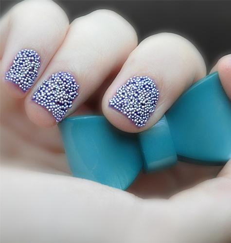 Дизайн ногтей осень-зима 2015. Икорный маникюр. Фото.