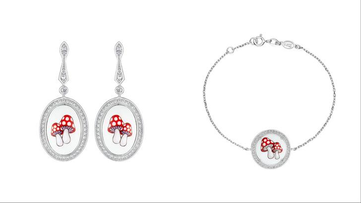 Фото №2 - Крупным планом: сережки с мухоморами и бриллиантами на 1 сентября