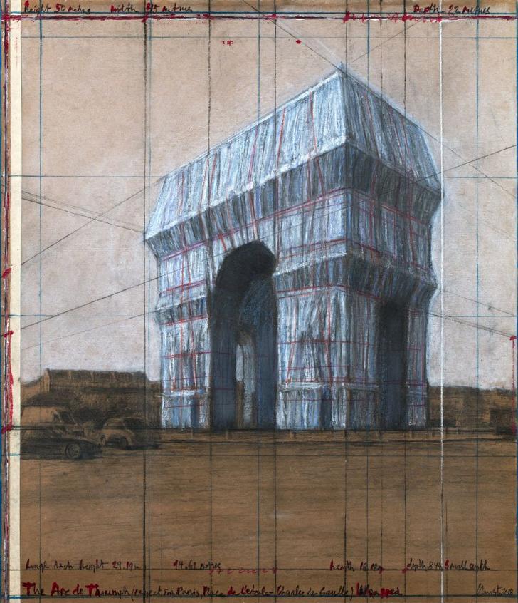 Фото №3 - Триумфальную арку в Париже полностью обернут тканью