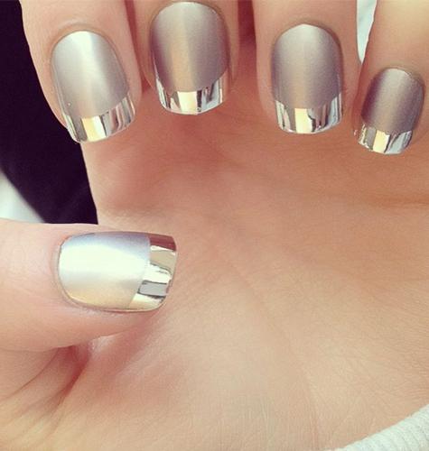 Дизайн ногтей осень-зима 2015. Хромированные ногти. Фото.
