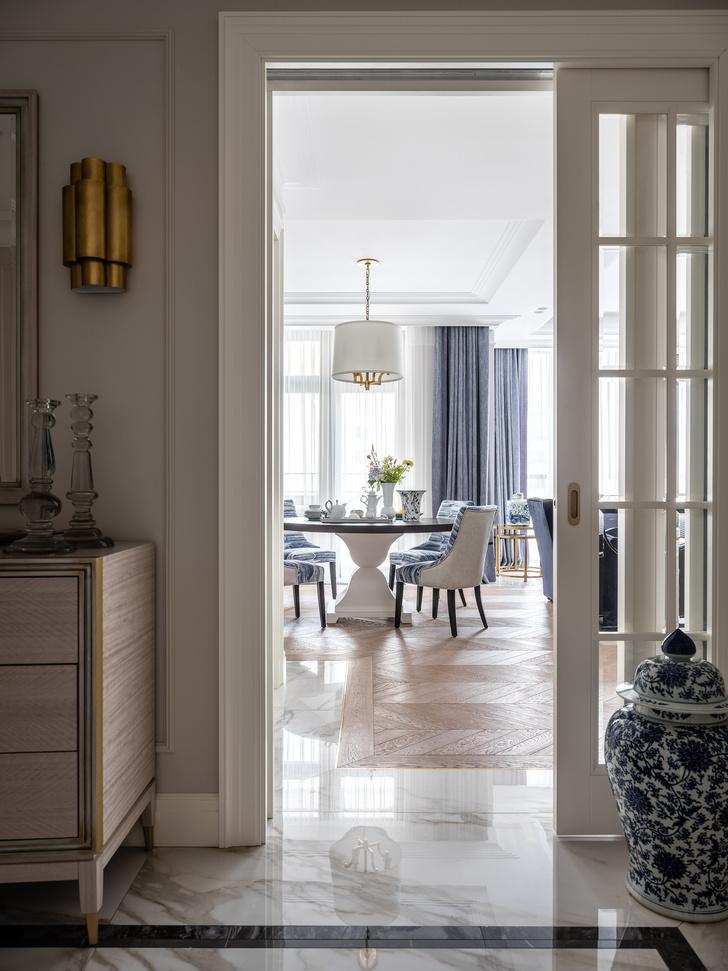 Фото №5 - Московская квартира 182 м² в стиле американской классики