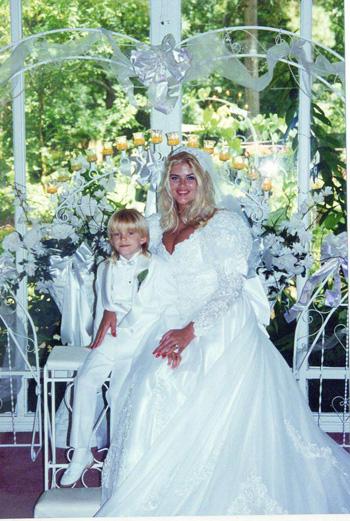 Свадебное фото Анны Николь Смит