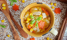 Суп из индейки – легкая американская версия