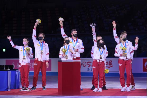 Фото №1 - Гордимся! Сборная России впервые в истории выиграла командный чемпионат мира по фигурному катанию