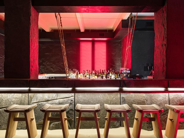 Фото №5 - Современный бар в стиле ваби-саби в Минске