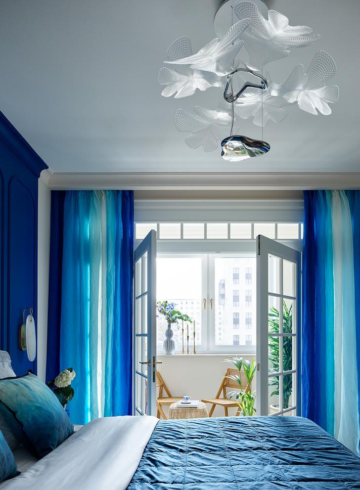 Фото №5 - Трехкомнатная квартира в оттенках синего цвета