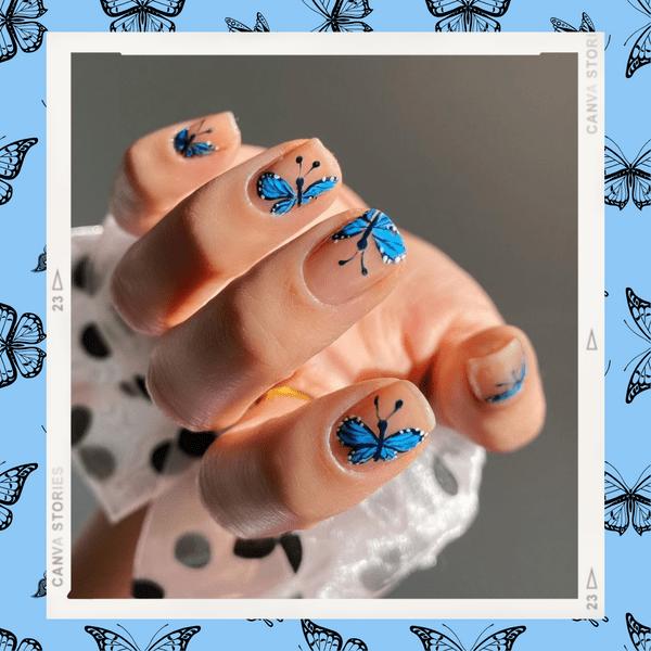 Фото №1 - Маникюр с бабочками— самый креативный и стильный бьюти-тренд этой осени из Инстаграма 🦋