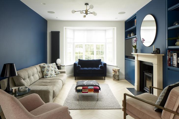 Фото №1 - Реконструированный дом 1930-х годов с синей гостиной в Лондоне