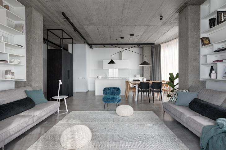 Фото №3 - Бетон + яркие акценты: квартира 166 м² в Кривом Роге
