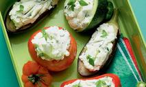 Овощи, фаршированные сыром