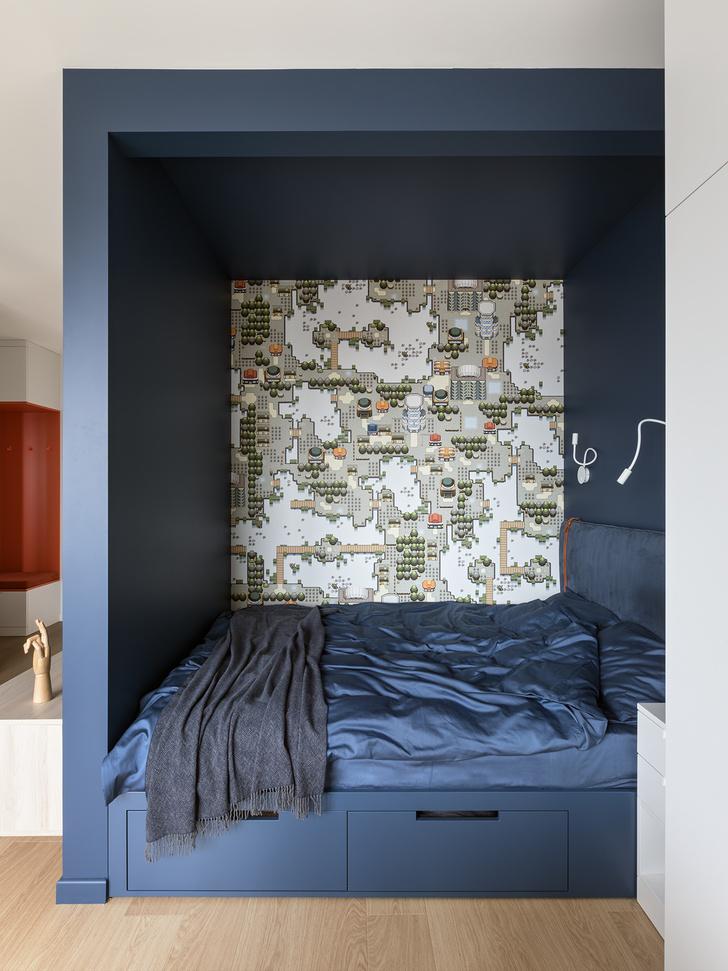 Фото №3 - Яркая однокомнатная квартира для работы на удаленке