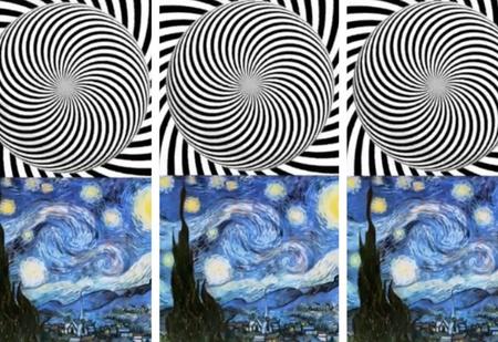 Сначала 20 секунд смотри на этот узор, а потом на картину Ван Гога (видео)