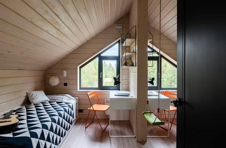 Фото №10 - Небольшой дом с панорамными окнами под Волоколамском