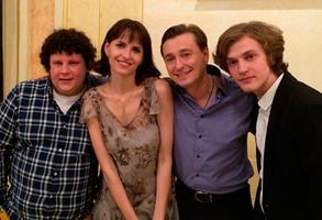 Евгений Кулик с Сергеем Безруковым и Анной Матисон