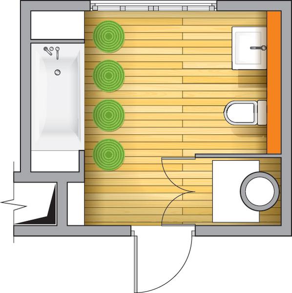 Фото №3 - Ванная в загородном доме: дизайн-проект