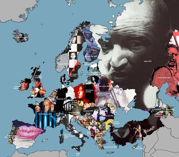 Фото №1 - Самые знаменитые фильмы каждой страны Европы, включая нашу (карта)