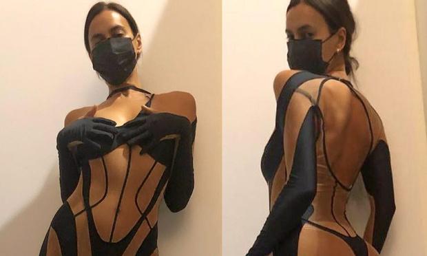 Фото №1 - Ирина Шейк выложила в Инстаграм манящее фото в прозрачном… эээ… костюме