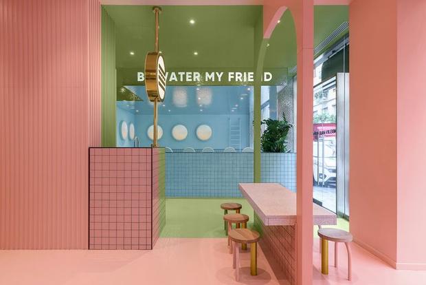 Фото №3 - Яркая бургерная в Турине по проекту Masquespacio