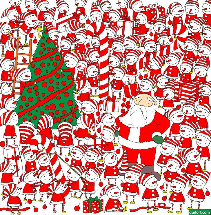 Фото №1 - Загадка только для очень зорких: отыщи шапку Деда Мороза