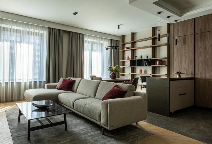 Фото №3 - Европейский интерьер московской квартиры 90 м² для иностранца