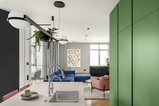 Фото №4 - Color Blocking в современной квартире в Киеве