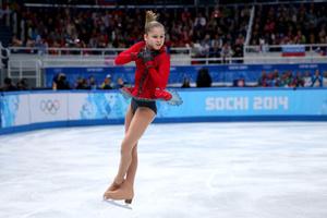 Юля Липницкая на Олимпиаде в Сочи
