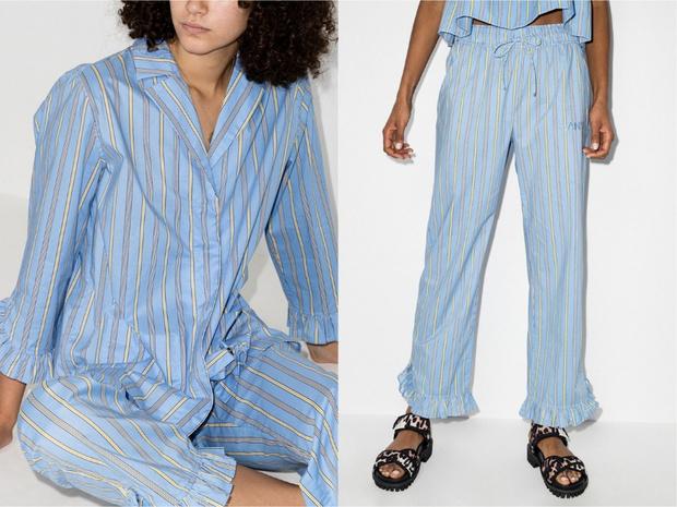 Бренд GANNI выпустил коллекцию одежды для сна и дома