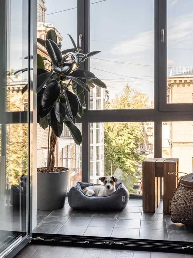 Фото №6 - Квартира с камином в нейтральных оттенках 66 м²