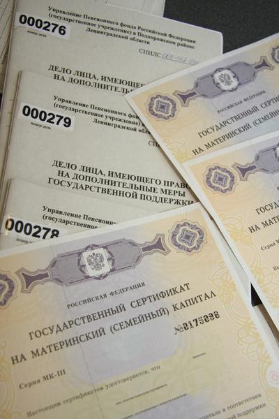 <p>Сертификат на материнский капитал</p>