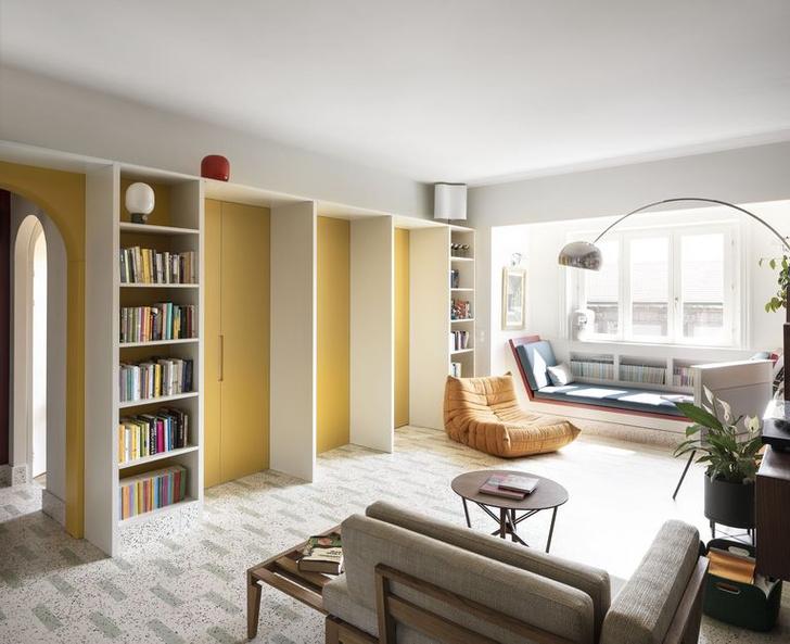 Фото №1 - Квартира с домашней библиотекой в Милане