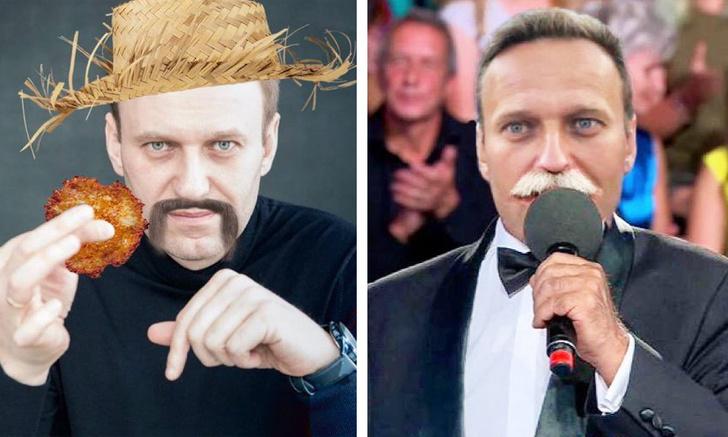Фото №1 - Навальный сообщил, что думает отрастить усы. «Твиттер» предложил свои смешные варианты