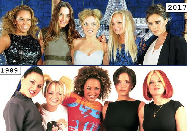 Фото №1 - Золотой зуб, блестки и эпатаж: как изменились солистки группы Spice Girls