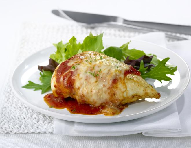 Курица с помидорами в духовке