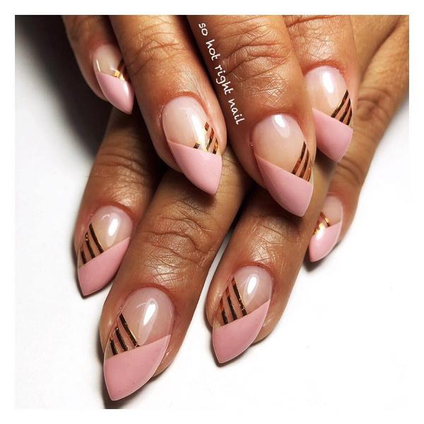 Фото №16 - Розовое золото: 39 стильных и модных идей нарядного маникюра