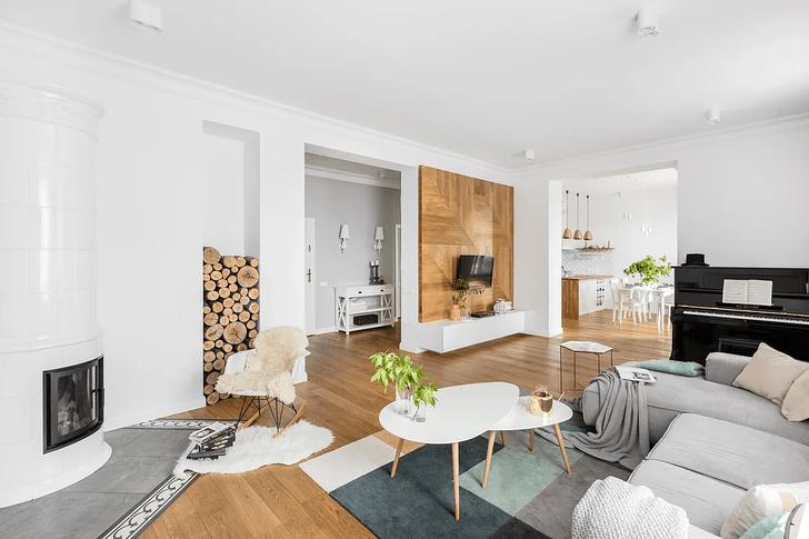 Фото №1 - Уютная квартира с изразцовой печью в Варшаве