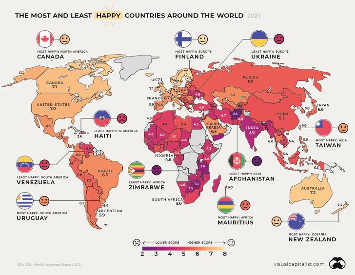 Фото №2 - Счастливые часов не наблюдают: самые счастливые и несчастные страны мира