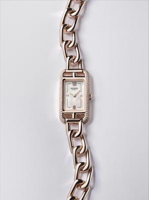 Фото №3 - Прочная связь: часы Hermès Nantucket с браслетом-цепочкой