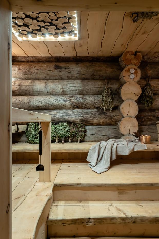 Фото №17 - Деревянная баня с высокотехнологичным дизайном в Подмосковье