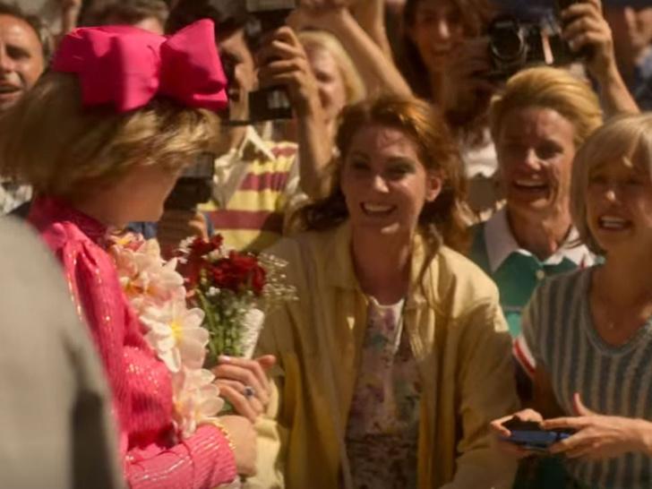 Фото №2 - Вот так сюрприз! Фанаты рассмотрели Кейт Миддлтон в массовке сериала «Корона»