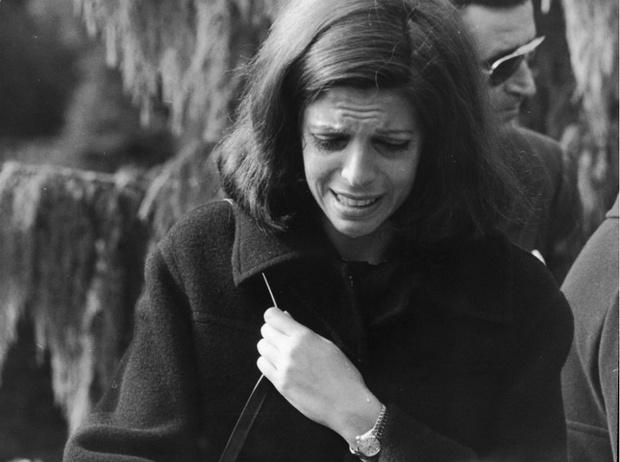 Кристина Онассис на похоронах матери, 17 октября 1973 год