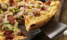 Пицца на кефире на сковороде: рецепт теста и начинки