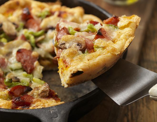 Пицца на кефире на сковороде за 10 минут: пошаговый рецепт с фото