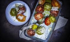 Вяленые в духовке зеленые помидоры